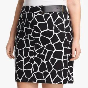 Michael Kors skirt size 14W Giraffe Print Pencil